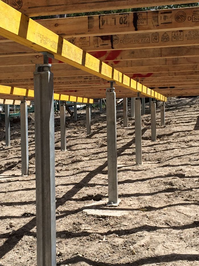 Ezipier Adjustable Steel Piers, Stumps and Bracing for any Sub-floor